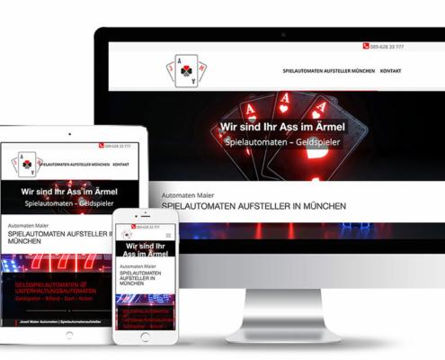 Webseite mit Wordpress für den Spielautomaten Aufsteller Maier