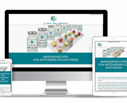 Webdesign auf Wordpress Design für die Webseite Mikronährstoffe für Apotheken
