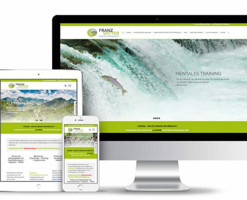 Webseite mit Wordpress für den Heilpraktiker Franz Vatter