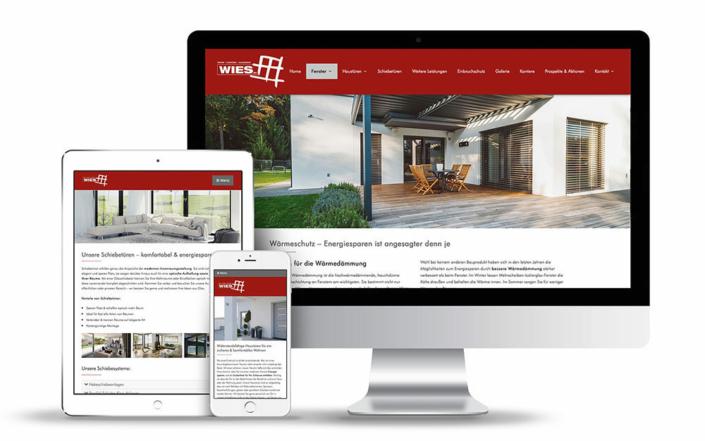 Webdesign für Handwerker, Webseite für die Wies Elementec GmbH