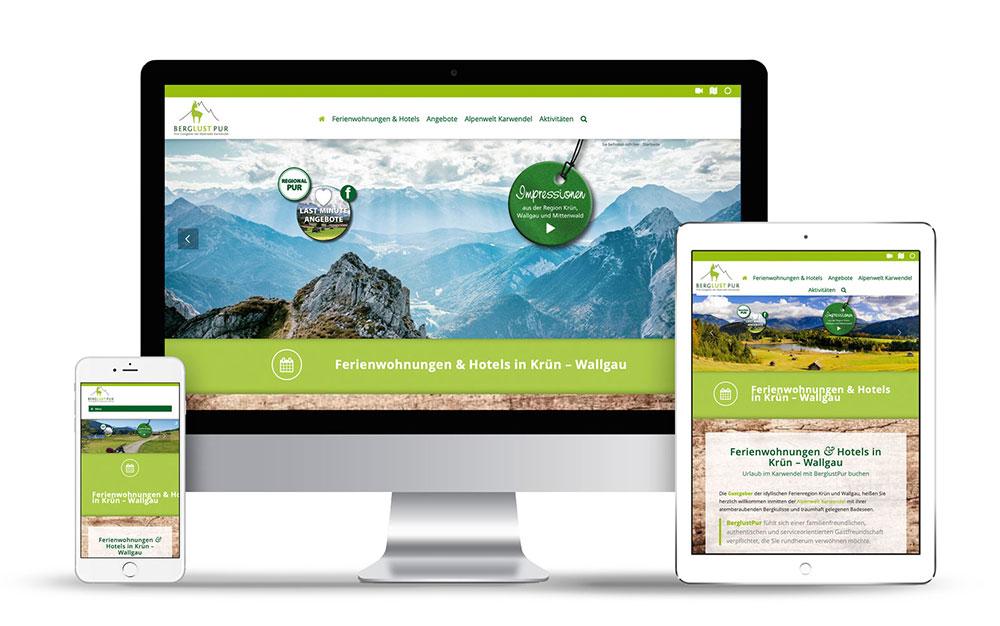 Webdesign mit Wordpress für das Reiseportal BerglustPur