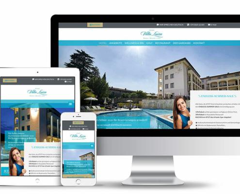 Webseite für Hotels, Golf & Wellness-Hotel Villa Luisa am Gardasee