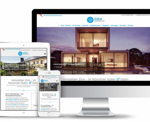Webseitengestaltung für Immobilienmakler Zirm
