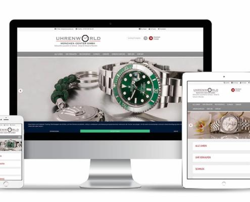 Webdesign [XT-Commerce] für Onlineshop der Uhrenworld in München