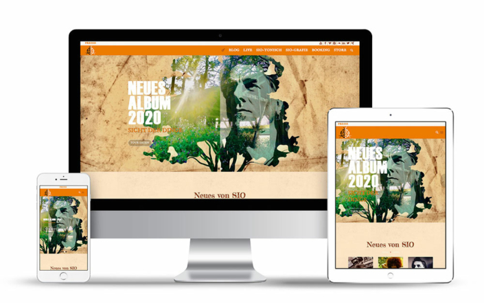 Websdesign auf Wordpress Basis für den Musiker & Songschreiber Sio Steinberger