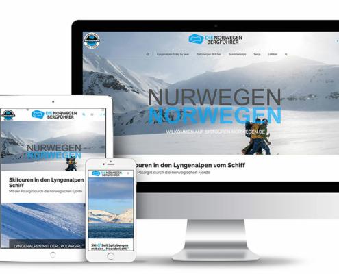 Webseitengestaltung für die Bergführer Norwegen